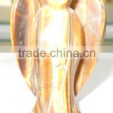 Semi precious stone tiger's eye stone 2-3 inch angel carvings-for gifts and decors
