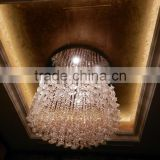 China lead high ceiling crystal birdcage chandelier