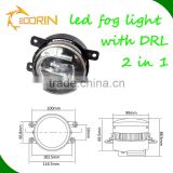 Aluminum housing AUTO accessory DRL led daytime light running lights driving led fog lights bulbs for sale