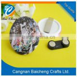 hign quality changeable acrylic name badges, plastic magnetic badge, permanent pvc name badge in hot sale