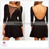 Alibaba backless fashion long sleeve short mini club sexy dress for women                                                                         Quality Choice