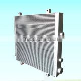 finned aluminium oil cooler/cooling fan motors compressor for air cooling parts screw air compressor parts