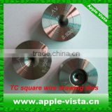 Custom PCD wire dies with round, square and triangle