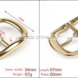 bow type solid brass buckle bling bling polishing brass buckle 34mm high quality lost cost