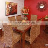 Antique Dining Chair -Home Furniture Dining Set -Wicker Dining table set (Hand woven by wicker,hyacinth & wooden frame )
