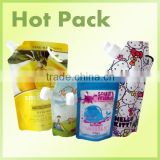 biodegradable stand up bag with zipper / heat sealing stand up pouch with spout for baby