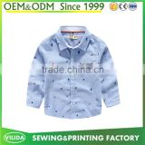 Wholesale new fashion baby boys pure cotton long sleeves childrens printed shirt