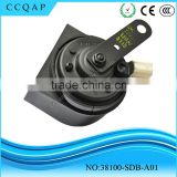38100-SDB-A01 High quality auto spare parts portable electric wireless type r car horn 12v