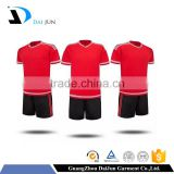 Daijun oem high quality 100% polyester breathable wholesale flag football practice jerseys cheap soccer uniform