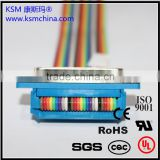 KSM DB Terminal wire & cable harness custom 2.54mm wire to board idc flat cable assembly