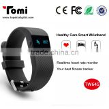 TW64 upgrade model smart bracelt Heart Rate Monitor Smart Band Sport Smart Wristband fitness tracker