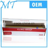 Color Box Food keeping wrapping PE Cling Film With Slide Cutter
