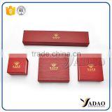Wholesale China factory of packaging boxes with gold hot stamping logo handmade paper storage box for jewelry
