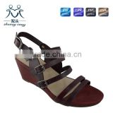 newest girl party dress PU sandal high heel sandals with belt open toe