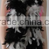 WHITE&BLACK 20S SLAPPER WOMEN FEATHER BOA/OSTRICH FEATHER BOA/TURKEY BOA