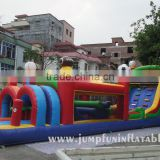 Commercial kids Inflatable castle obstacle course for events Air bouncer inflatable obstacle race