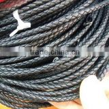 Wholesale genuine 4mm round genuine nappa leather cords for bracelet jewelry