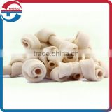 High Quality Rawhide knotted bone dog chews, Dog chews bleached rawhide knotted bone, Natural Rawhide twsit dog dental chews