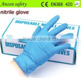 best price food industry blue nitrile glove
