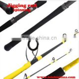 High carbon fuji reel seat spinning jigging rod