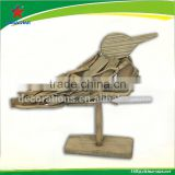 decorative wooden bird with stand