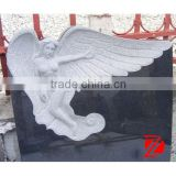 marble angel tombstone carving