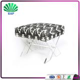 Transparent Acrylic Stool Euro Style Changing Room Ottomans With X-Shape Legs