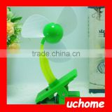 UCHOME Newest Colorful USB/Battery Clip Fan Baby Mini Fan Best Fan With Safety Foam Blade