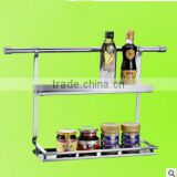 Stainless steel 2 layers high quality kitchen shelf
