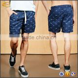 Ecoach latest design elasticized drawstring waist 100%polyester customized men beach shorts