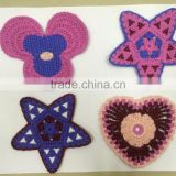 manufacturer machine made new crochet animal flower applique patch