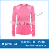 Newest women sport top. High end women tennis shirt long sleeve, custom sport wear for women