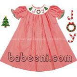 Adorable JOY smocked bishop dress for girl - BB460