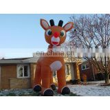 christmas outdoor decorative deer rudolph inflatable deer for sale