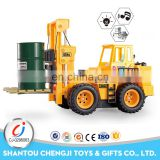 Hot selling 1:24 6 channel wire control toy forklift with light and music