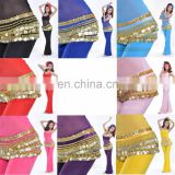 BestDance Belly Dance Dancing Hip Scarf Skirt Wrap Costumes Belt velvet & Golden Coins