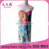 Polyester chiffon scarf women beach sarong in sunmmer