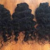 Indian Russian  Curly Human Hair Double Layers Wigs 100g 18 Inches
