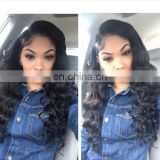 Brazilian body wave closure remy lace front closure with baby hair
