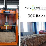 OCC Baler Machine / Old Corrugated Cardboard Baler