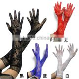 Instyles New White ivory Black Red Lace Beading Fingerless Wedding Glove Bridal Glove
