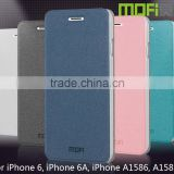 MOFi Wholesale PU Leather Smart Mobile Phone Flip Cover Cases for iPhone 6, iPhone 6A, iPhone A1586, A1589, Free Sample