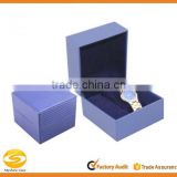Watch Box single Mens Blue Leather Display Glass Top Jewelry Case,leather watch case