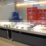 APEX stainless steel with glass case refrigerated fish display table