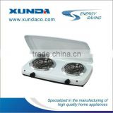 2 burner hot plate electric stove with cover