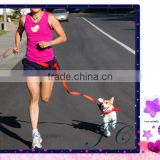 2016 Hot Sale nylon running pet leash hands free dog leash