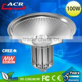 AC85-265v High Power 100w LED High Bay Light with Meanwwell power supply bridgelux chip and bridgelux chip