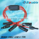 factory direct MC4 Y branch assembly for solar power system