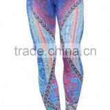 High waist gym compression yoga pants/sublimation printed yoga pants/custom colorful yoga pants