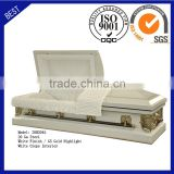 20H2045 funeral supply good quality cheap price coffin American steel casket